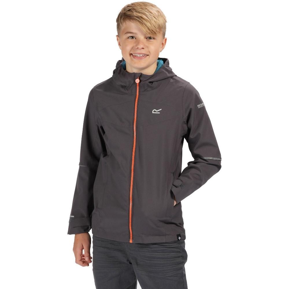 Image of Regatta Boys & Girls Hipoint Strtch IV Waterproof Jacket 7-8 Years - Chest 63-67cm (Height 122-128cm)