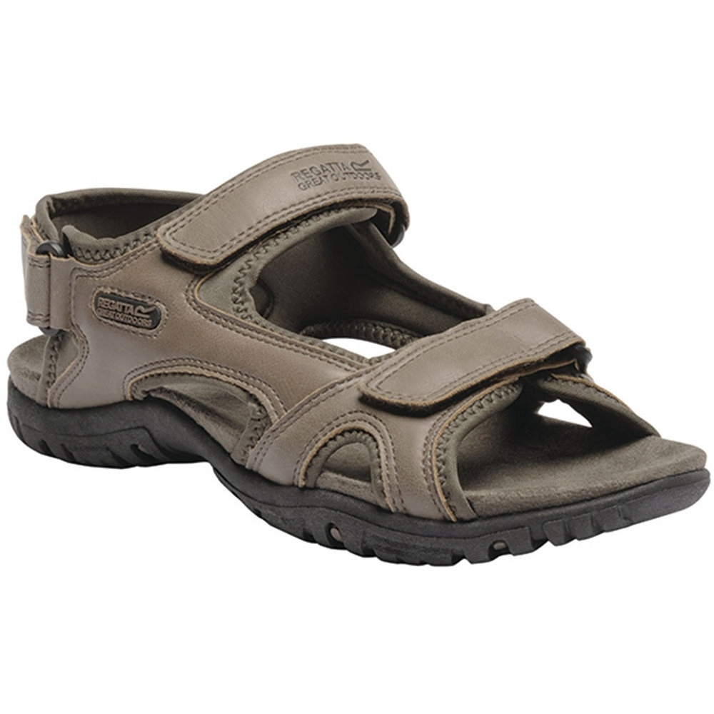 Regatta Mens Haris Three Strap Faux Leather Walking Sandals