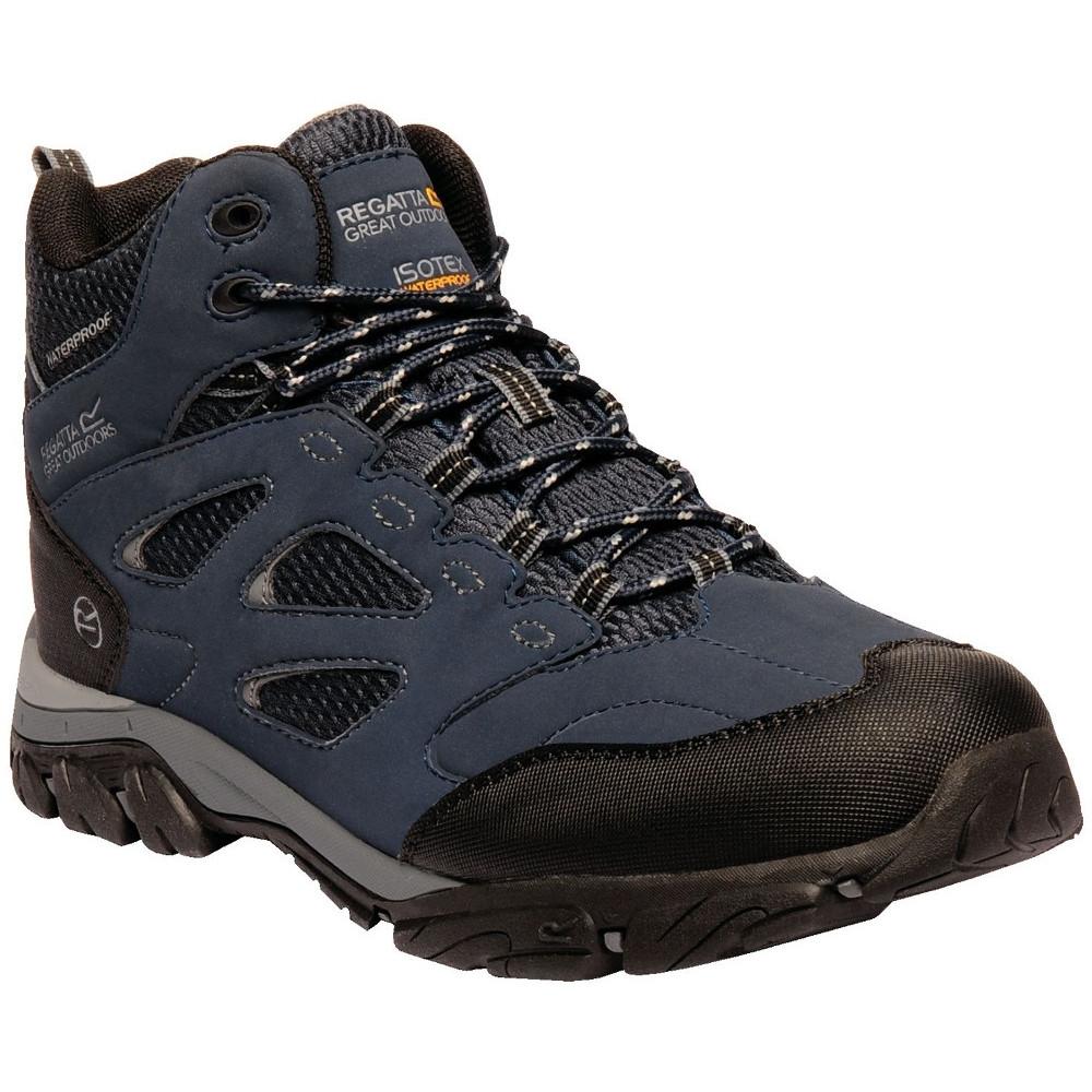 Image of Regatta Mens Holocombe IEP Mid Isotex Waterproof Fabric Walking Boots UK Size 7 (EU 41)