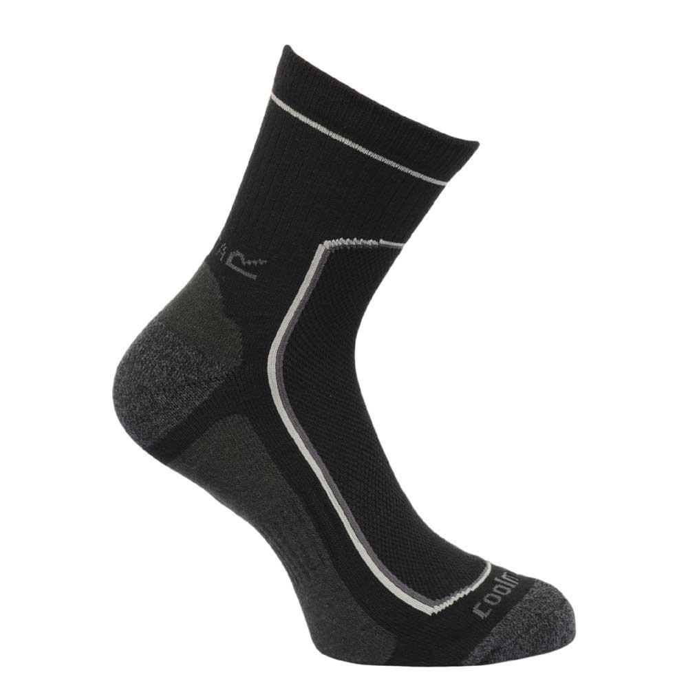 Product image of Regatta Mens Active Walking Socks Black RMH031