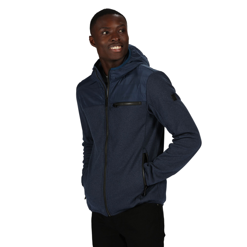 Regatta Mens Corner House Fitted Contrast Casual Bomber Jacket Coat S - Chest 38 (97cm)
