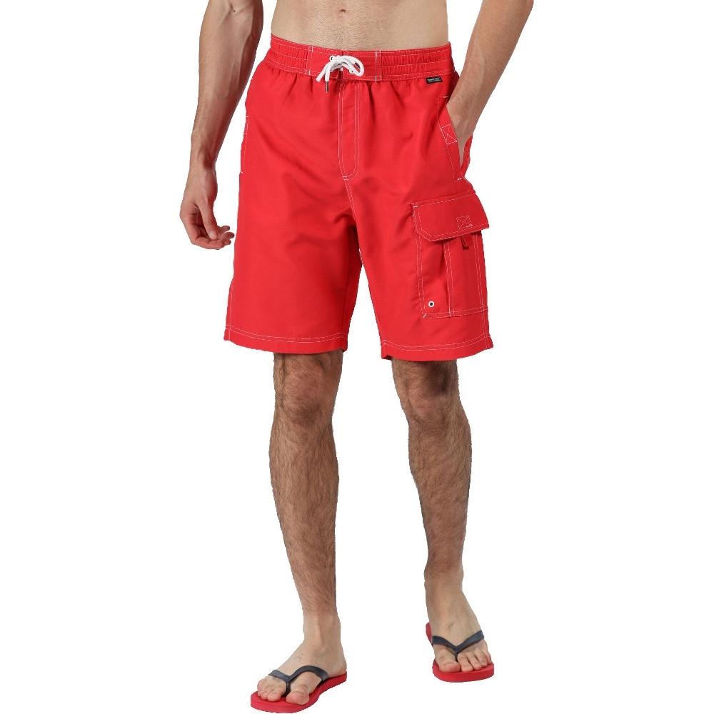 Regatta Mens Hotham Iii Quick Dry Swim Beach Board Shorts M- Waist 33-34  (84-86cm)