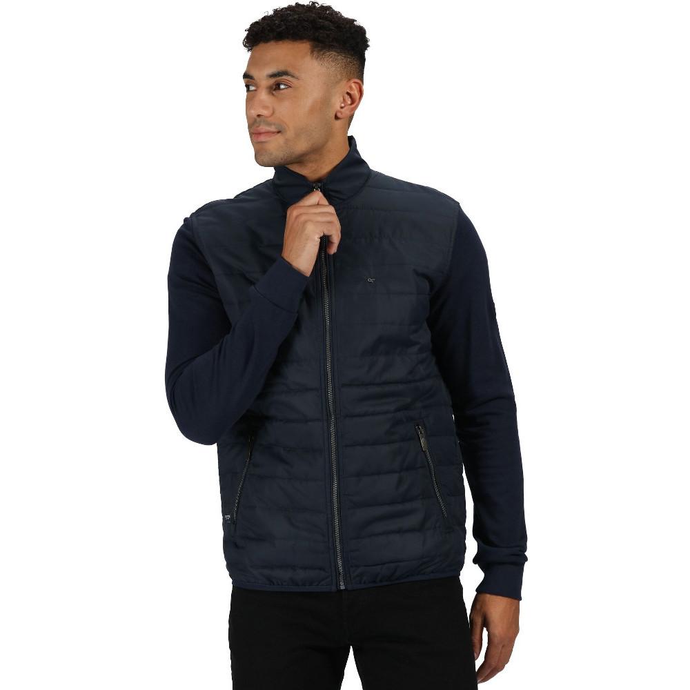 Regatta Mens Eddard Ii Full Zip Polyester Grid Style Fleece Jacket Top Xl - Chest 43-44 (109-112cm)