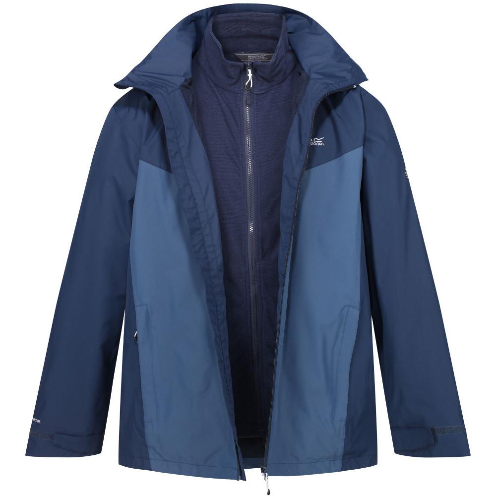 Regatta Mens Cartersville Iv Zip Up Hooded Casual Fleece Hoodie Jacket Xl - Chest 43-44 (109-112cm)