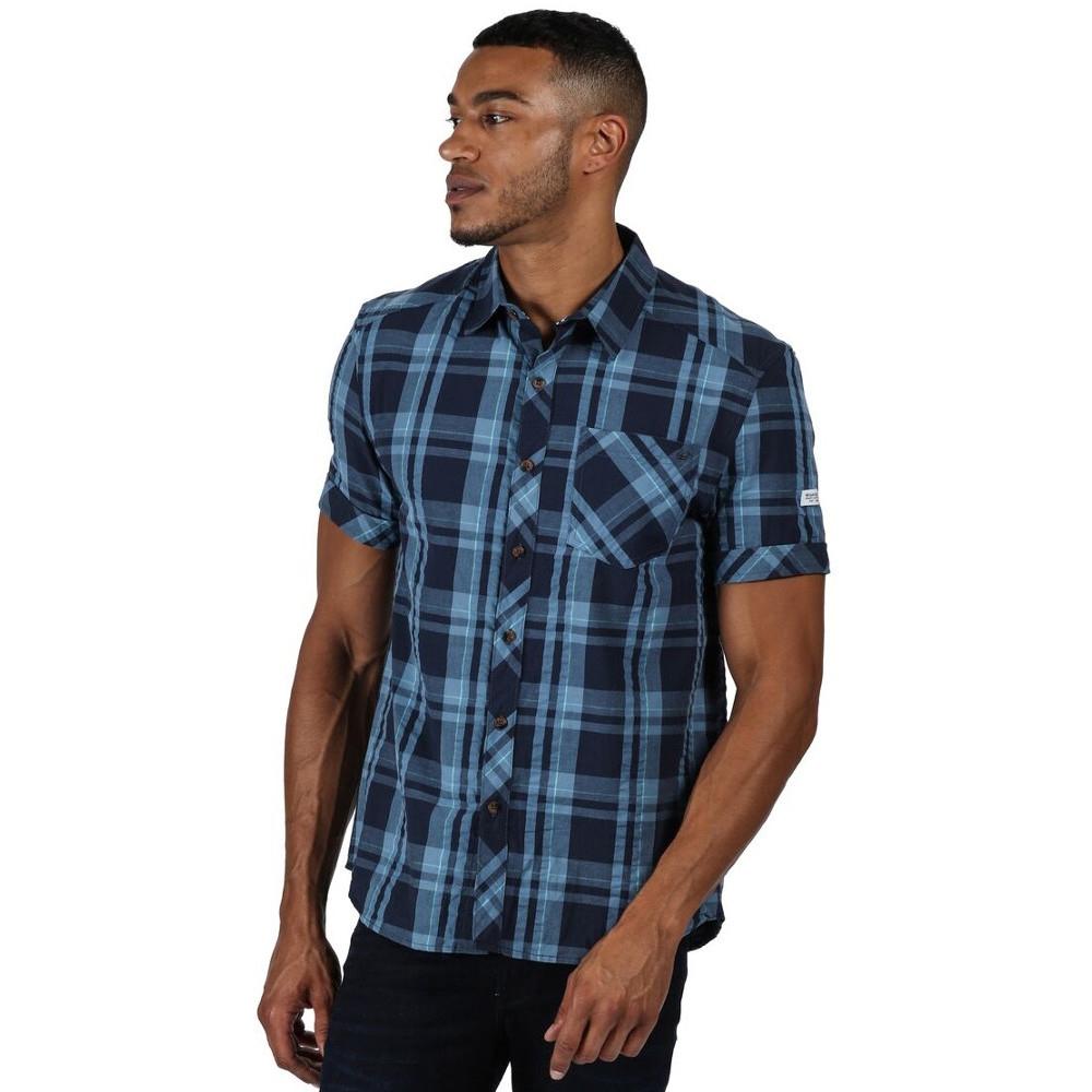 Regatta Mens Deakin Iii Check Cotton Short Sleeve Shirt Xl - Chest 43-44 (109-112cm)
