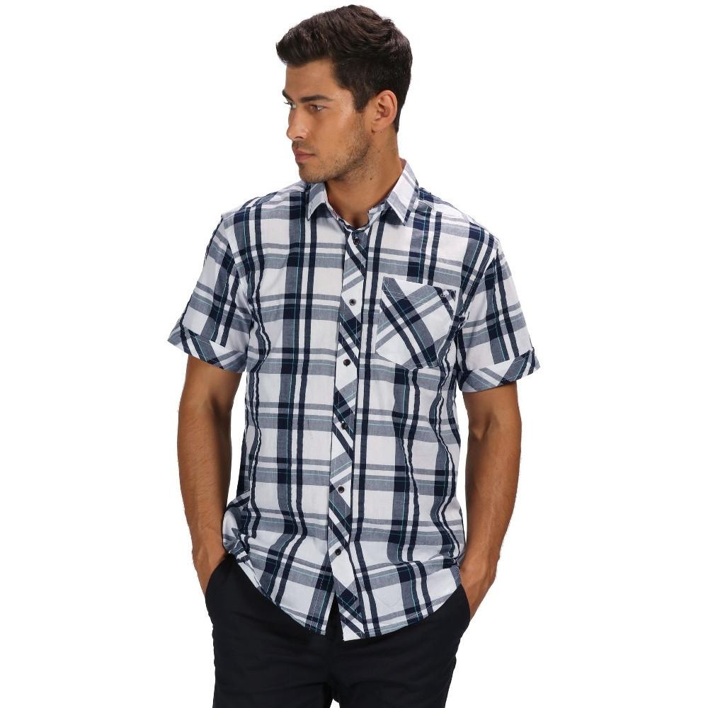 Regatta Mens Deakin Iii Check Cotton Short Sleeve Shirt L - Chest 41-42 (104-106.5cm)