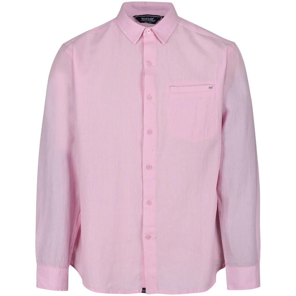 Regatta Mens Bard Coolweave Organic Cotton Long Sleeve Shirt S- Chest 37-38 (94-96.5cm)