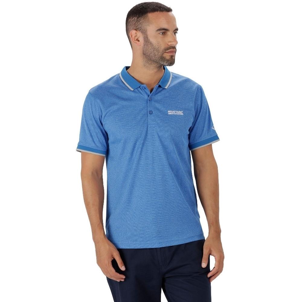 Regatta Mens Remex Quick Dry Polyester Marl Casual Polo Shirt cQYs0CXWb