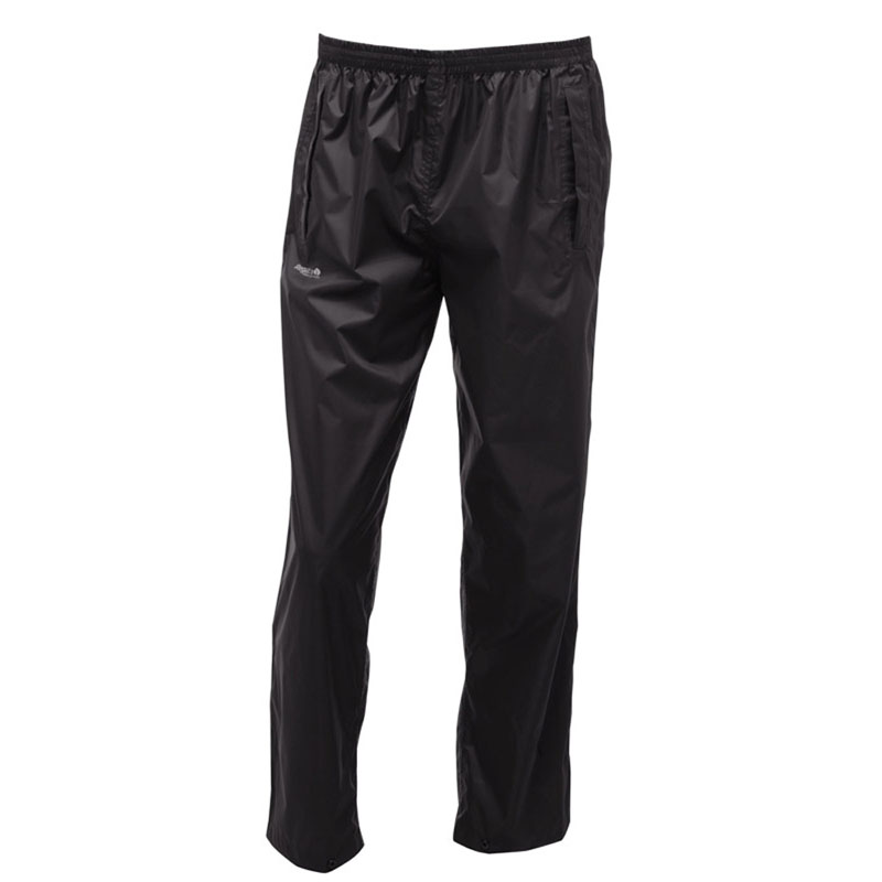 Product image of Regatta Mens Pack It Waterproof Overtrousers Black