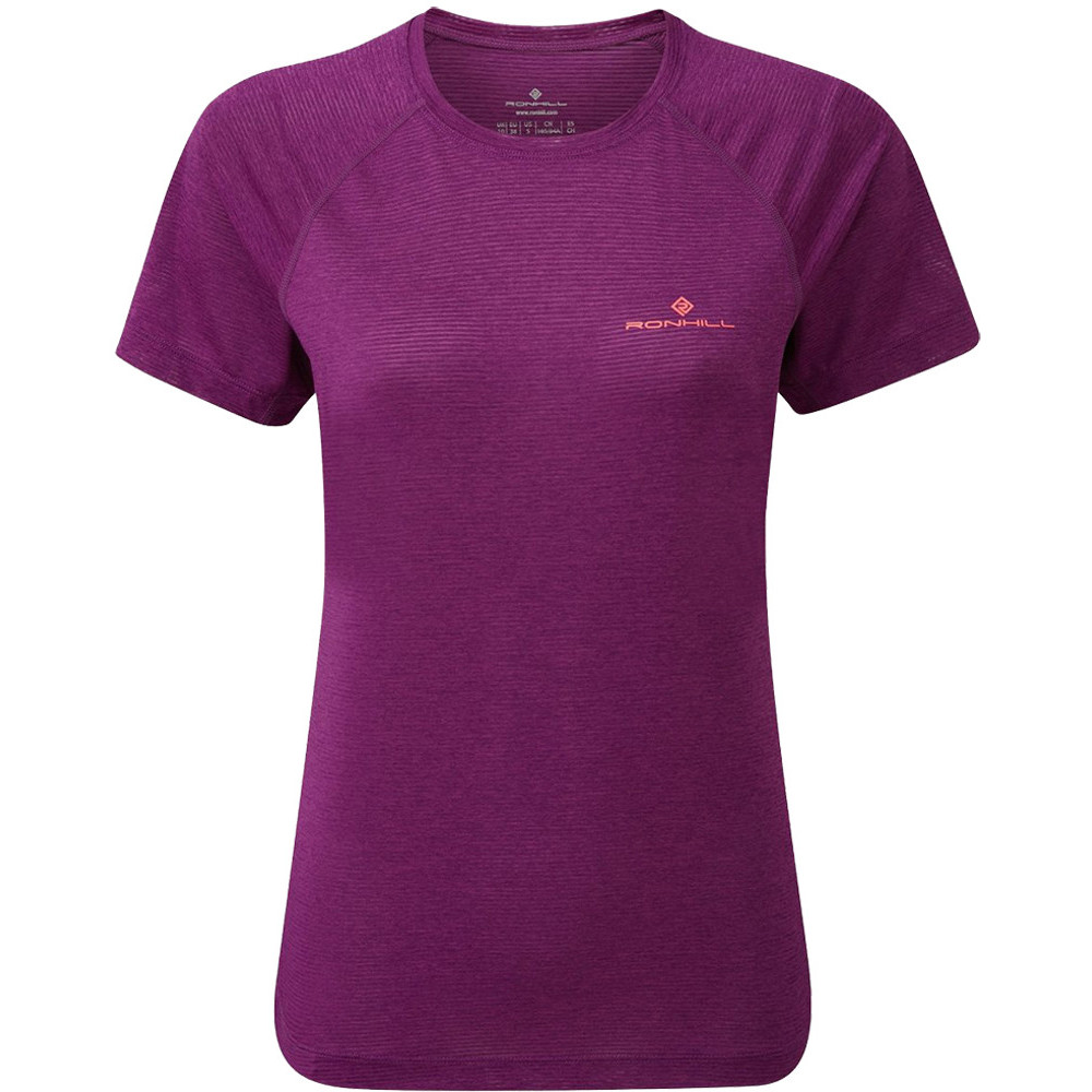 Image of Ron Hill Womens Stride Breathable Relaxed Fit T Shirt UK 12 - Bust 34.5-36.5' (88-93cm)