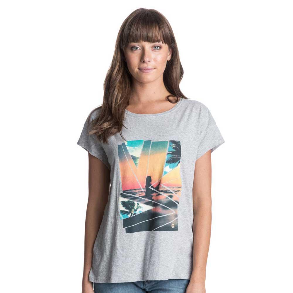 Roxy Ladies New Crew Graphic T Shirt ERJZT03120B Grey