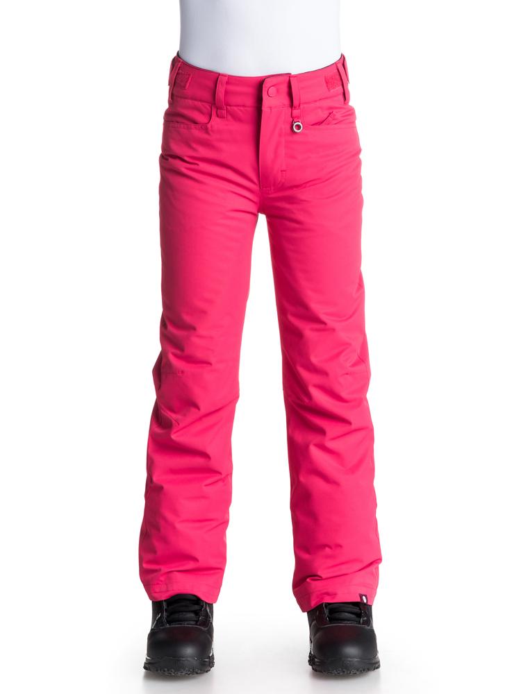 Product image of Roxy Girls Backyard Bib Waterproof Ski Snowboard Trousers  Red