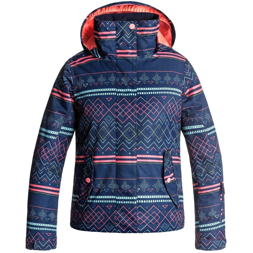 Roxy Clothing Girls Jetty Waterproof Insulated Taffeta Ski Jacket Coat 10 - Chest 28' (71.5cm)