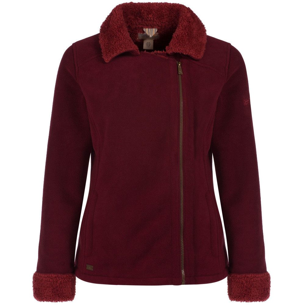 Regatta Womens/Ladies Bernetta Asymmetric Zip Fur Pile Fleece Jacket 20 - Bust 45 (114cm)