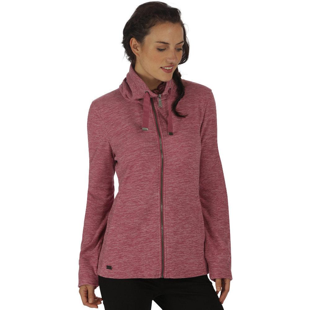 Regatta Womens/Ladies Endora Full Zip Lightweight Marl Fleece Jacket 14 - Bust 38 (97cm)