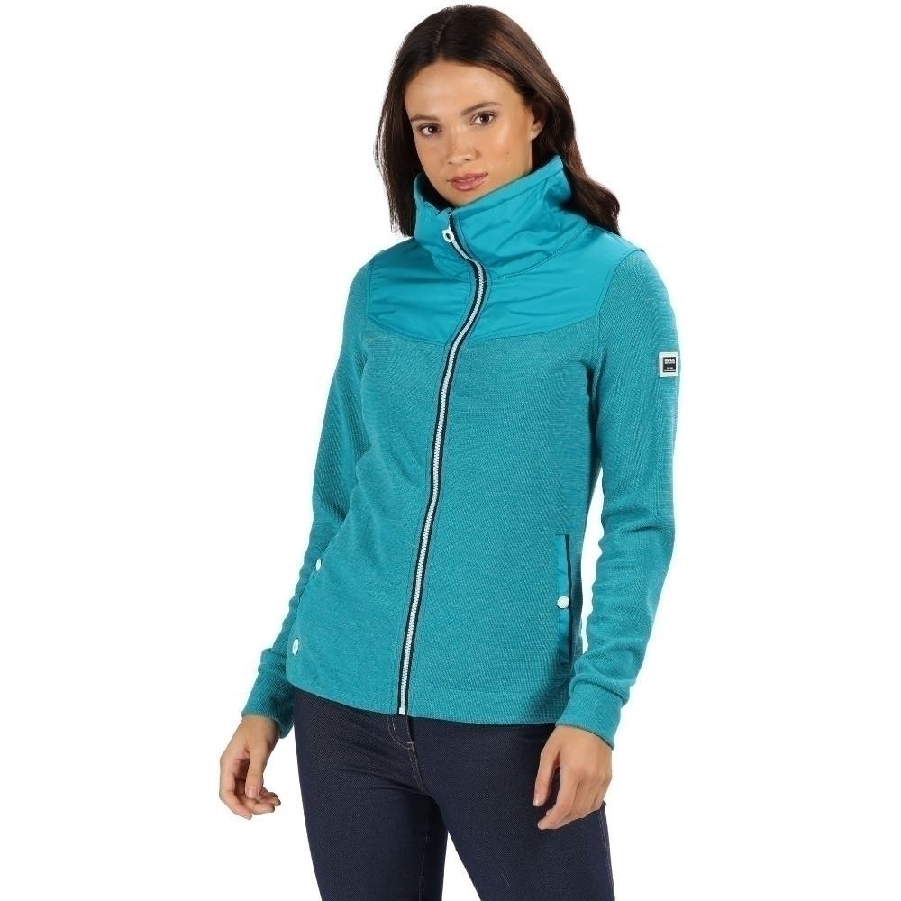 Regatta Womens Cyrilla Knit Effect Full Zip Fleece Jacket 20 - Bust 45 (114cm)