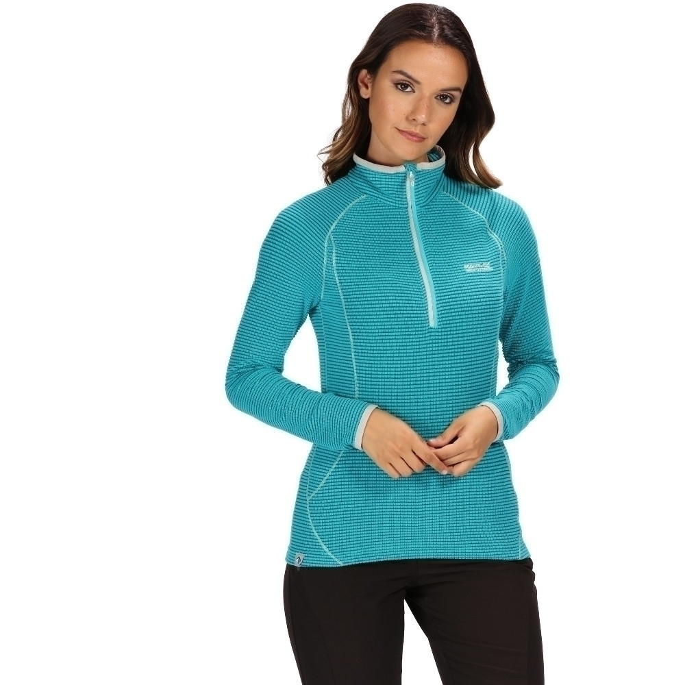 Regatta Womens Unwin Half Zip Polyester Grid Fleece Jacket 1