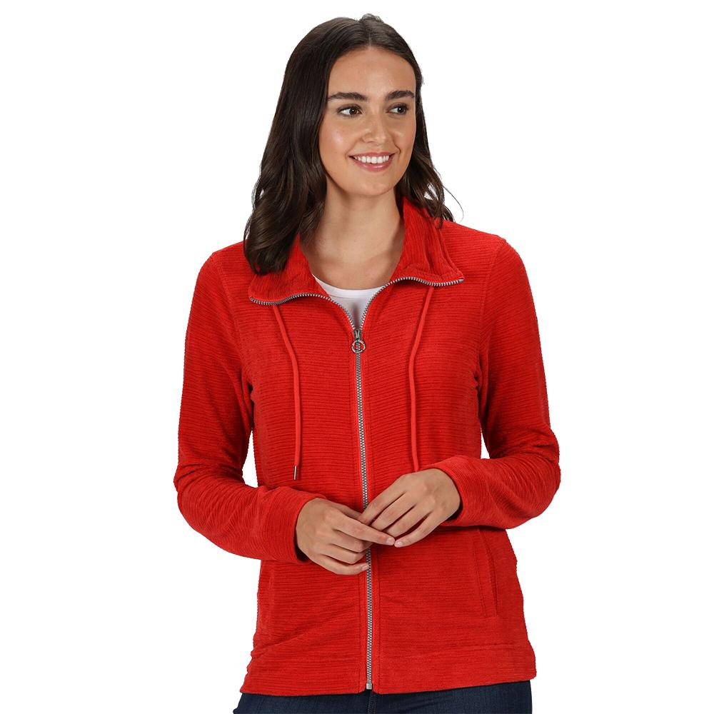 Regatta Womens Edlyn Full Zip Linear Fleece Jacket 8 - Bust 32 (81cm)