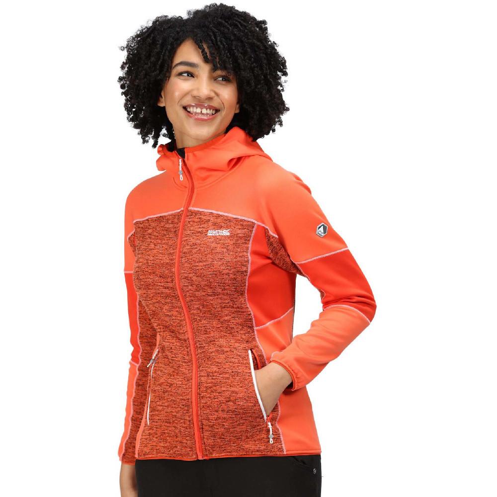 Regatta Womens Walbury Ii Hooded Full Zip Marl Fleece