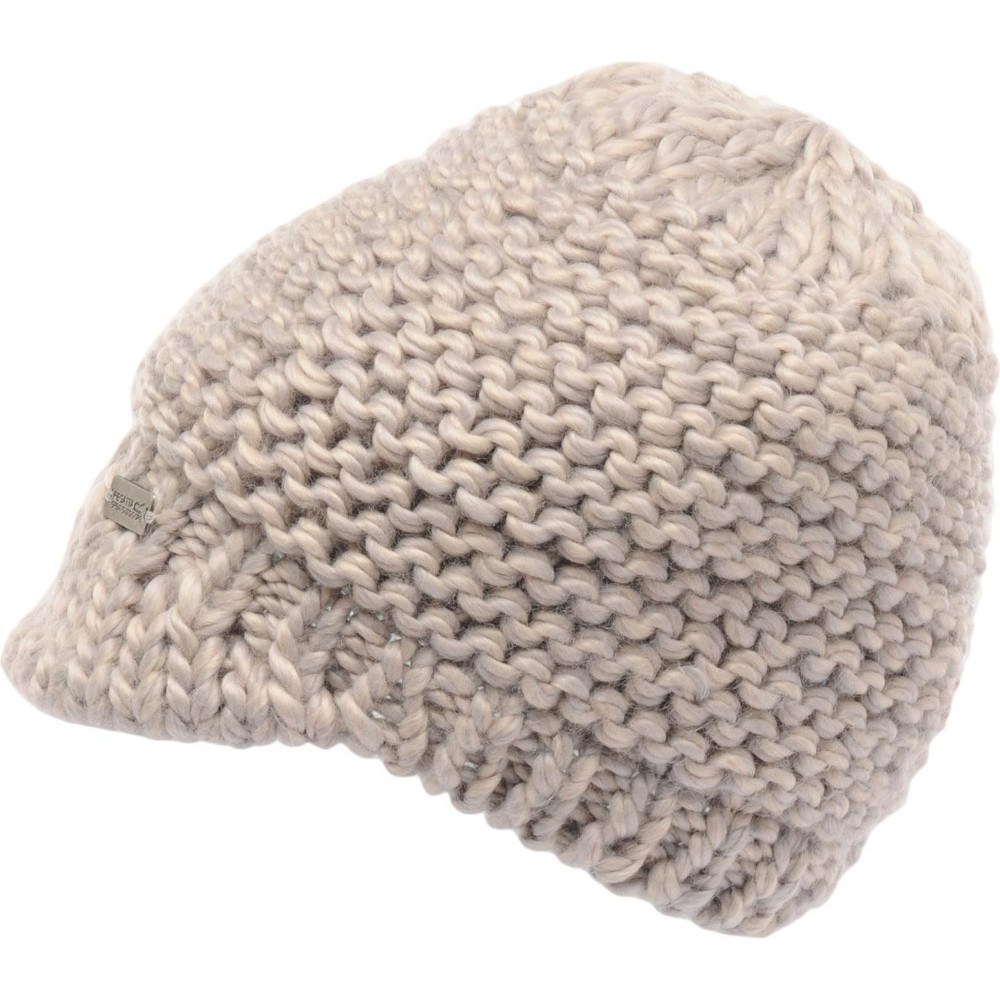 Product image of Regatta Womens/Ladies Espen Fleece Lined Knitted Peaked Beanie Hat One Size
