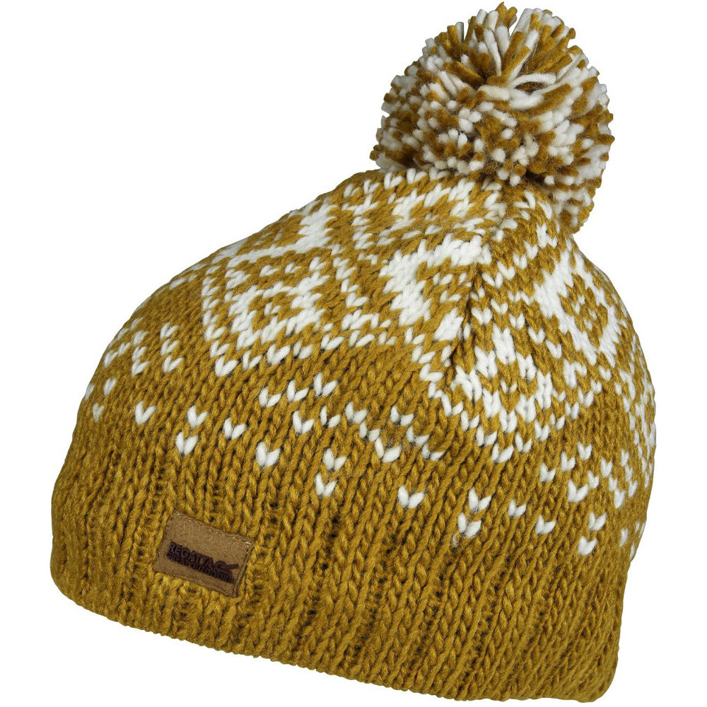 Product image of Regatta Womens/Ladies Nordic Fleece Lined Winter Bobble Beanie Hat One Size