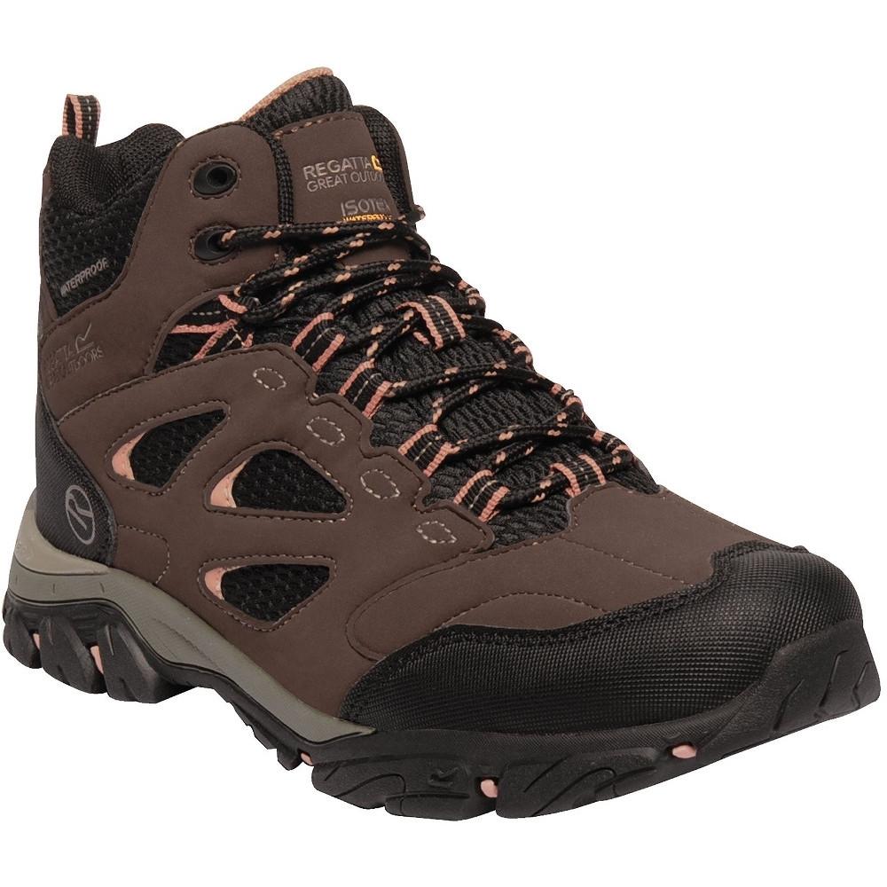 Regatta Womens/Ladies Holcombe IEP Mid Waterproof Fabric Walking Boots UK Size 8 (EU 42)
