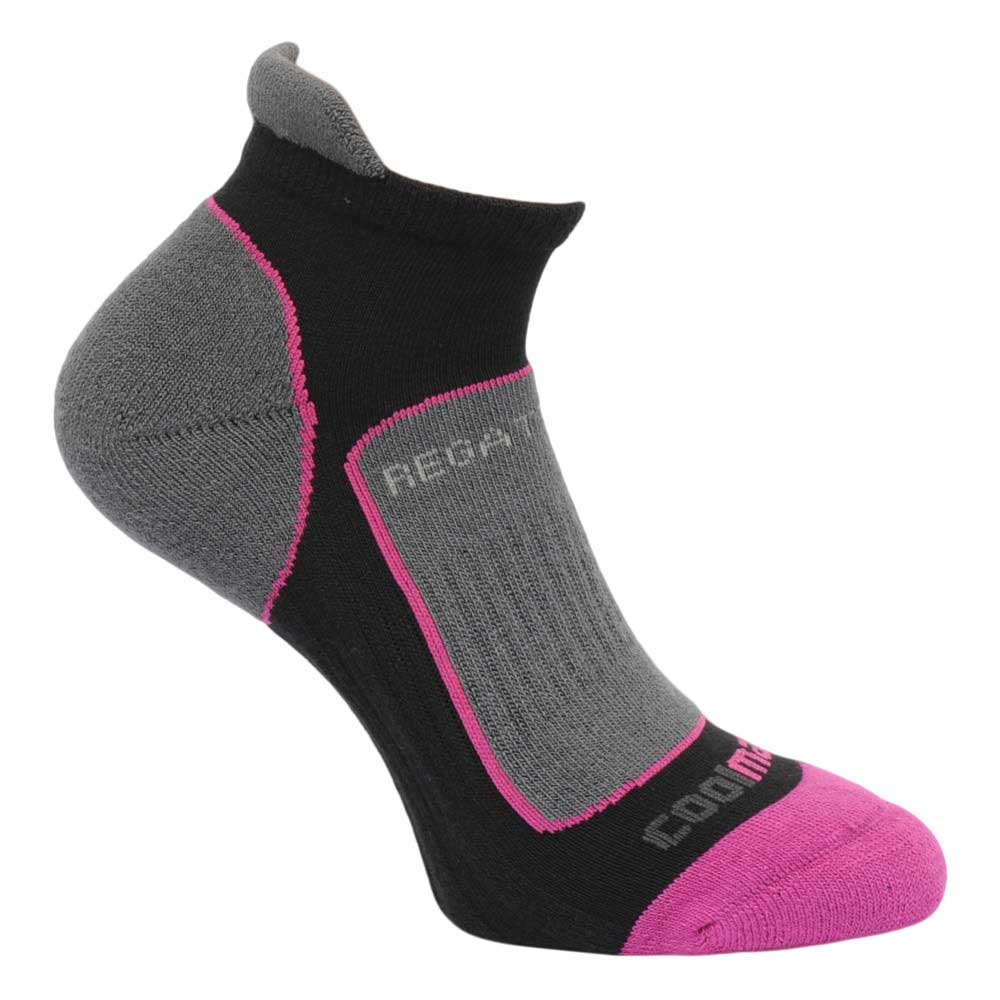 Product image of Regatta Womens Trail Runner Walking Socks Black RWH030