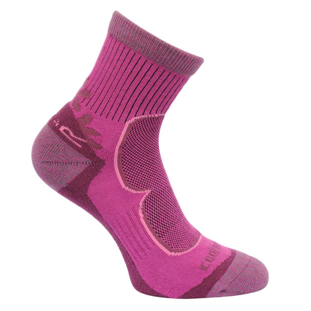 Product image of Regatta Womens 2 Pair Active Walking Socks Purple RWH031