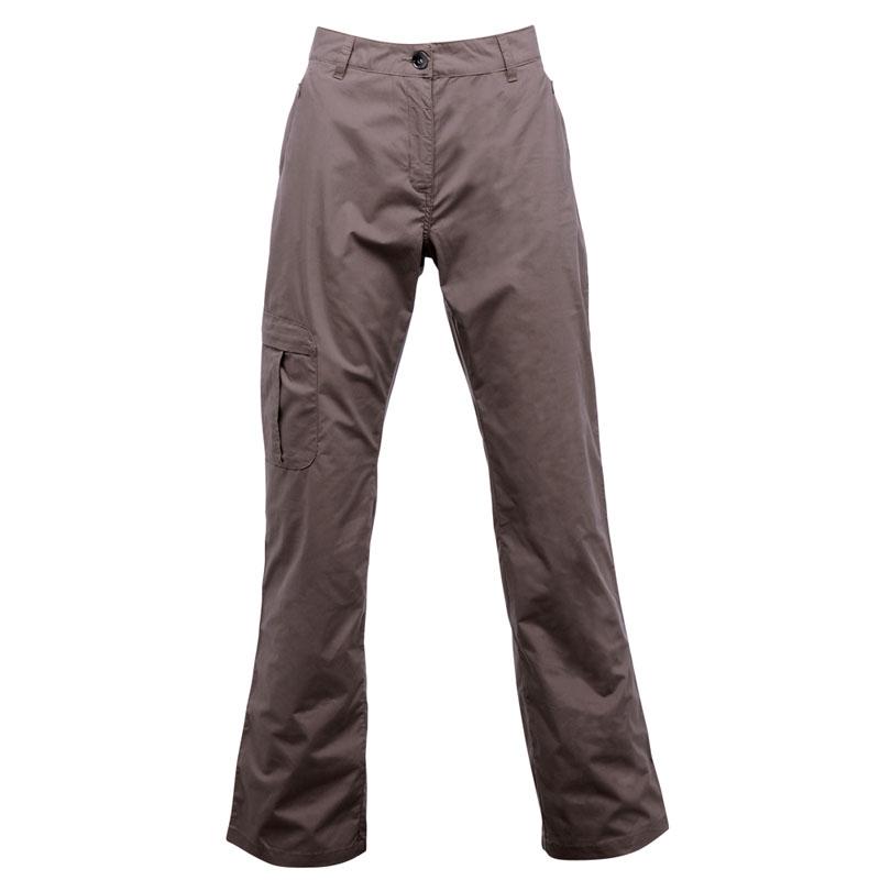 Product image of Regatta Womens Crossfell Multi Pocketed Trousers Brown Regular Leg