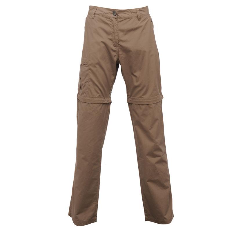 Product image of Regatta Womens Crossfell II Zip Off Trousers Brown