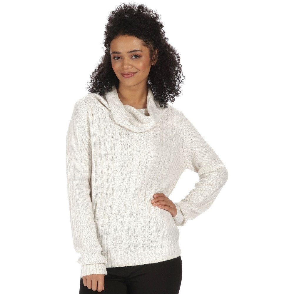 Image of Regatta Womens/Ladies Karalee Cowl Necked Acrylic Knit Casual Jumper 10 - Bust 34' (86cm)