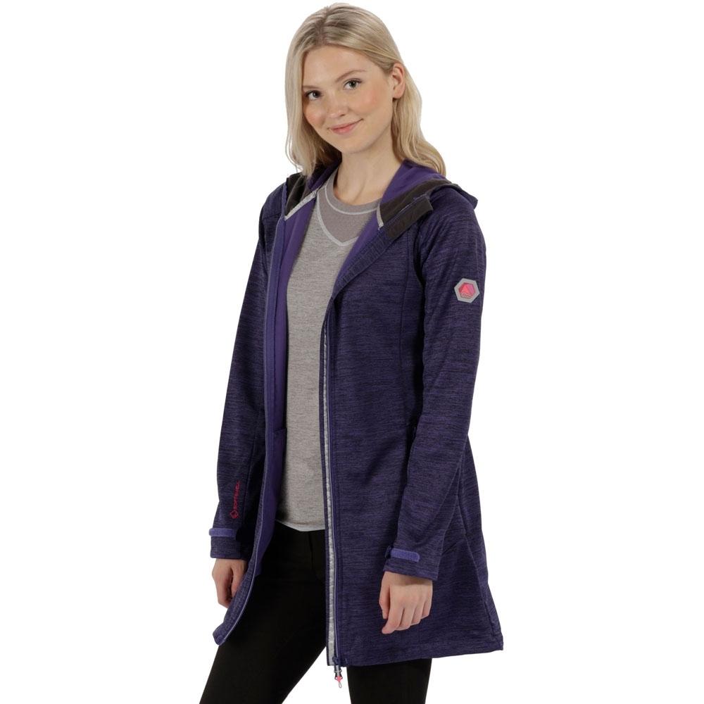 Regatta Womens/Ladies Lilywood Long Lightweight Marl Softshell Jacket 10 - Bust 34 (86cm)