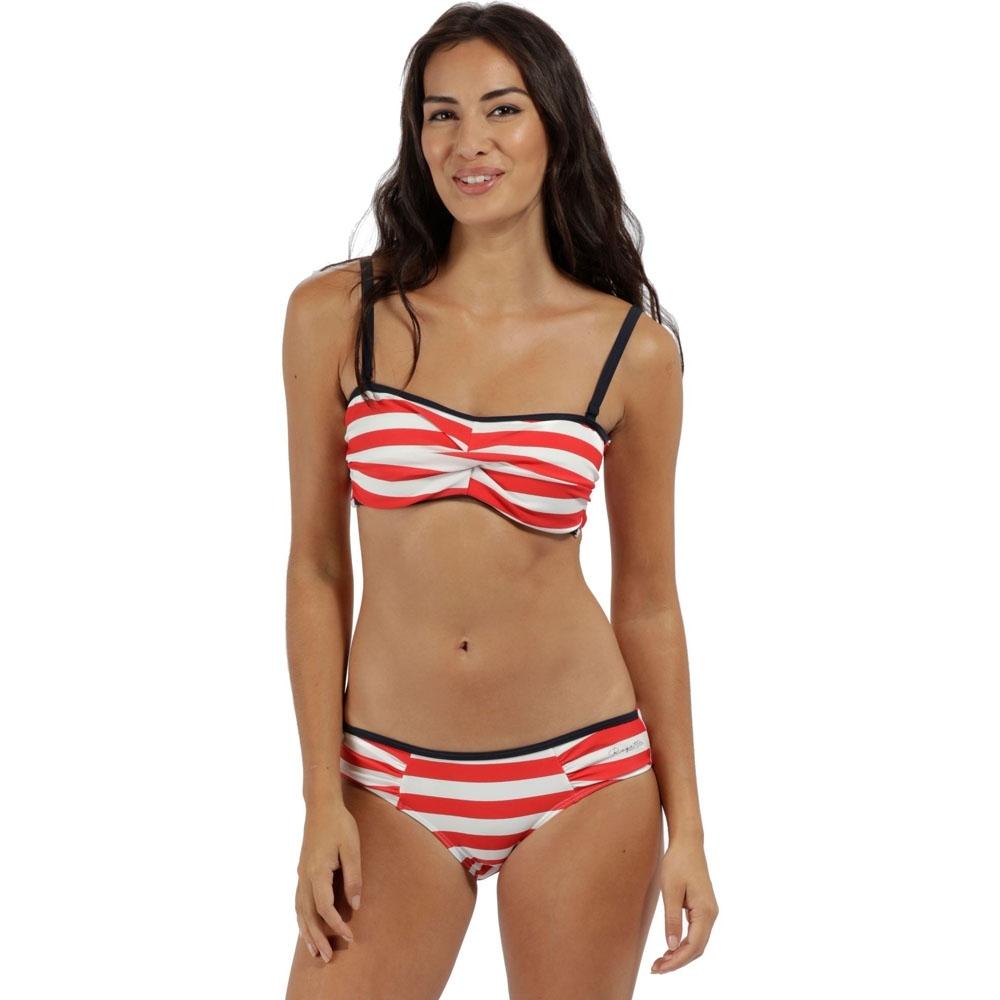 Regatta Womens/ladies Aceana Bikini Brief Ruch Detail Swimwear Bottoms 14 - Waist 31 (79cm)