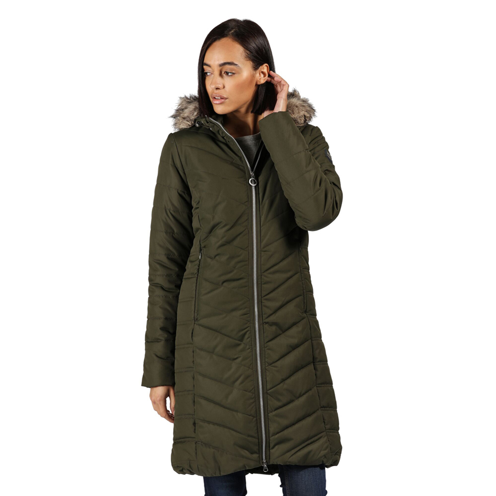 Regatta Womens Fritha Insulated Quilted Parka Coat Jacket 18