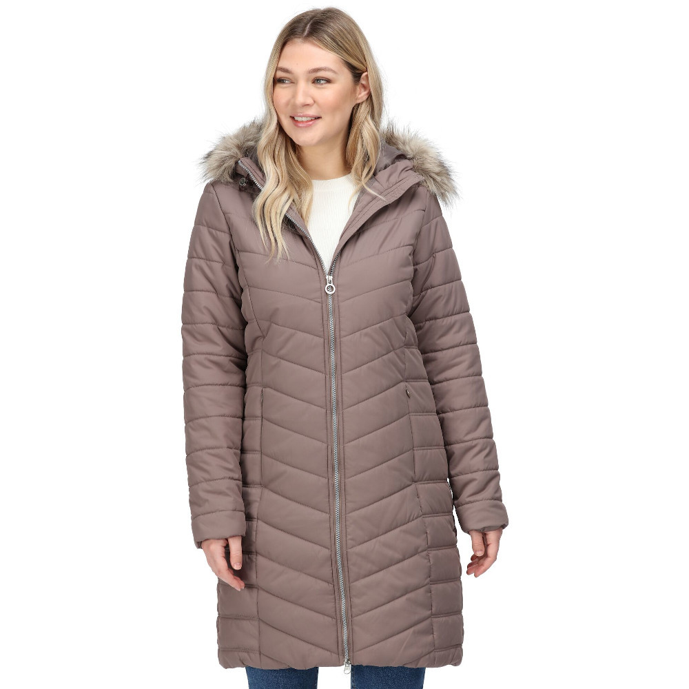 Regatta Womens Fritha Insulated Quilted Parka Coat Jacket 12
