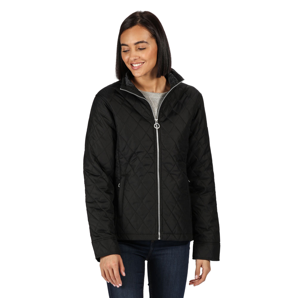 Regatta Womens Charna Insulated Quilted Casual Coat Jacket 10 - Bust 34 (86cm)
