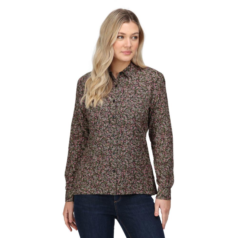 Regatta Womens Marilee Long Sleeve Button Denim Shirt 8 - Bust 32 (81cm)