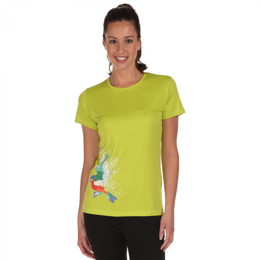Product image of Regatta Womens/Ladies Fingal Quick Dry Active Graphic T Shirt 12 - Bust 36' (92cm)