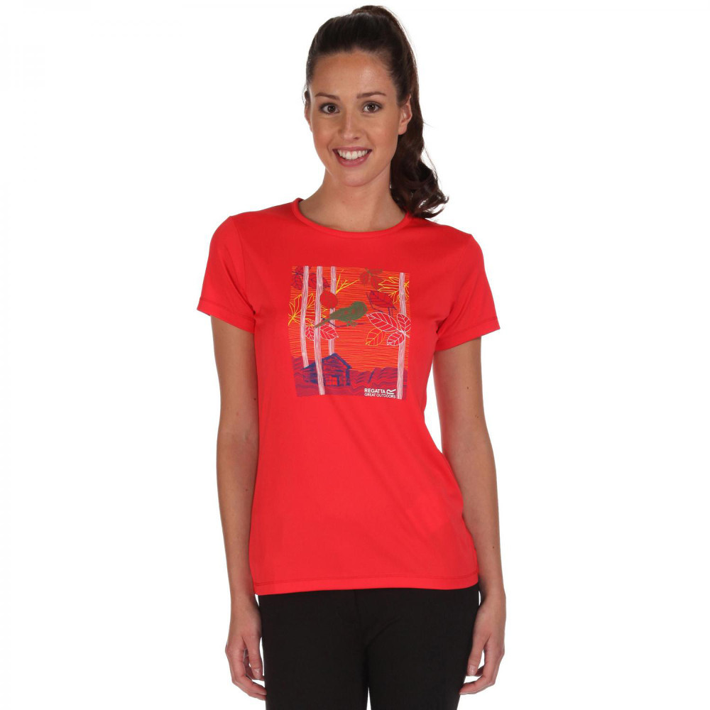 Product image of Regatta Womens/Ladies Fingal Quick Dry Active Graphic T Shirt 10 - Bust 34' (86cm)