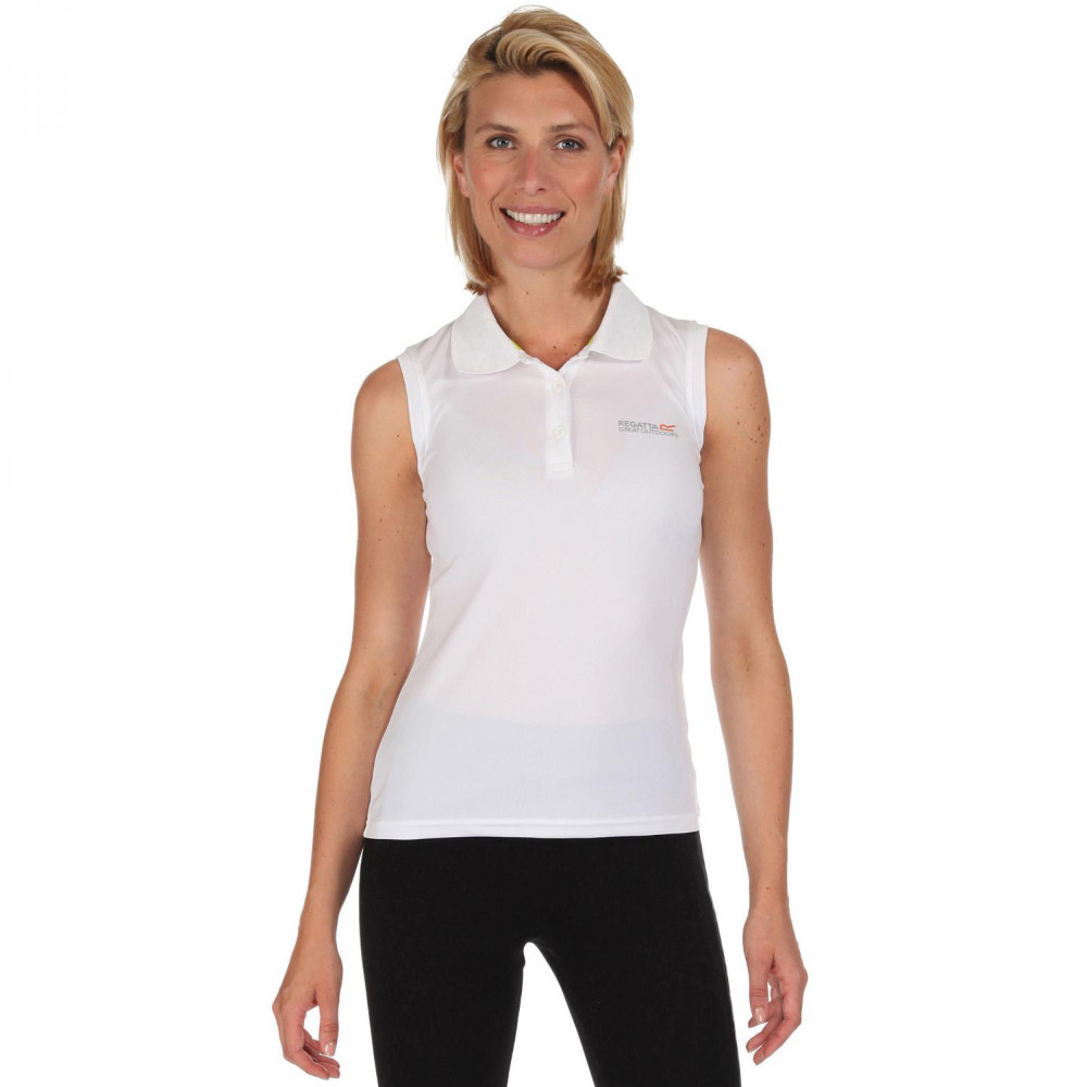Regatta Womens/ladies Tima Wicking Quick Dry Active Polo Vest Shirt 8 - Bust 32 (81cm)