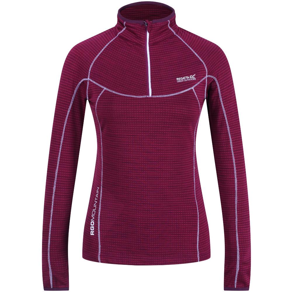 Regatta Womens/ladies Yonder Half Zip Long Sleeve Moisture Wicking Top 8 - Bust 32 (81cm)