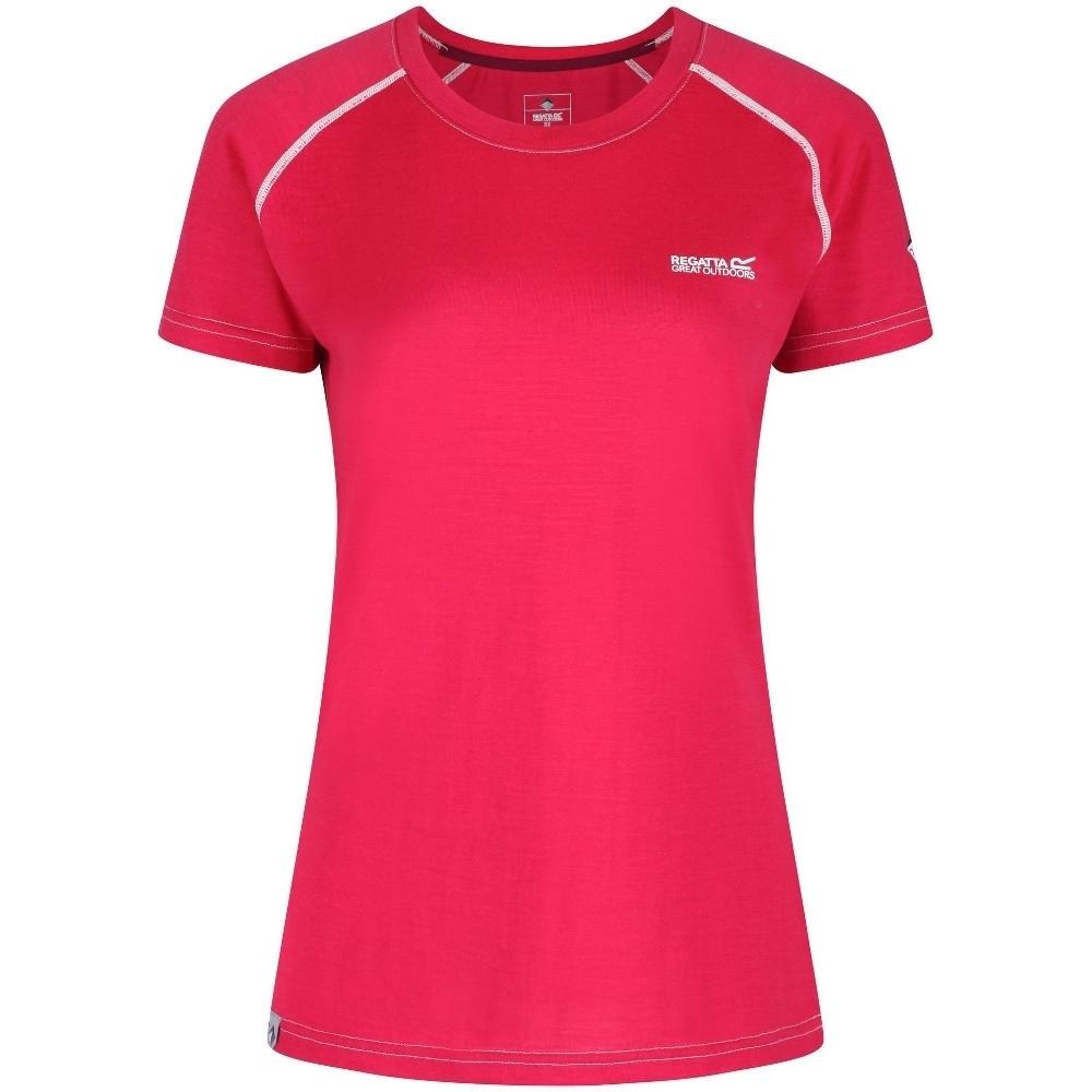 Regatta Womens Tornell Merino Wool Wicking Active T Shirt 8 - Bust 32 (81cm)