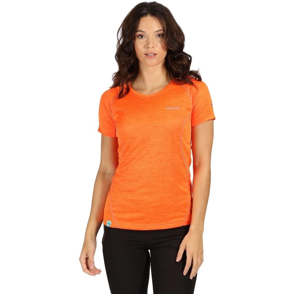 Regatta Womens Deserta Quick Dry Short Sleeve Active T Shirt 8 - Bust 32 (81cm)
