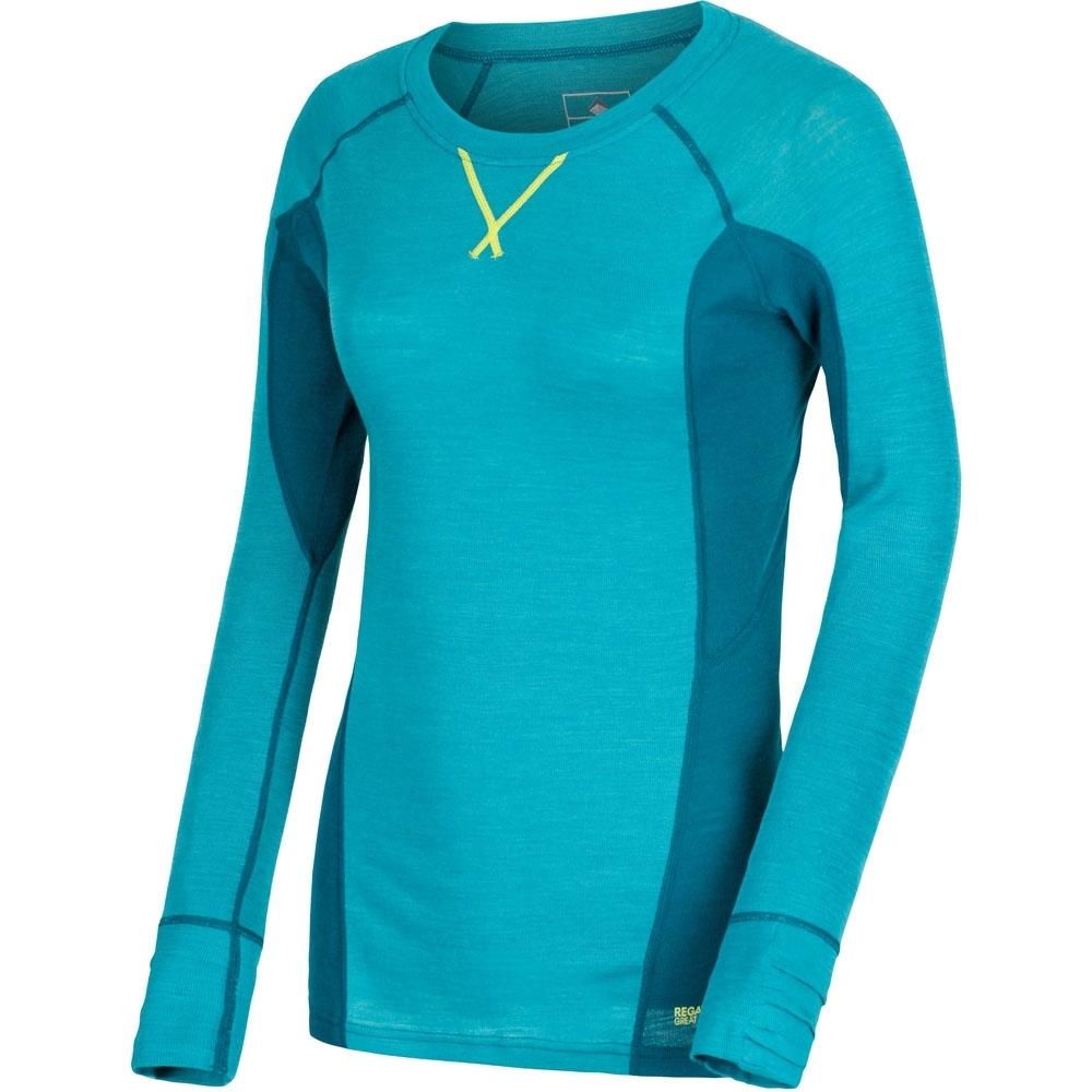Regatta Womens/Ladies Beru Merino Wool Long Sleeve Baselayer T shirt UK Size 16 - Chest 40' (102cm)