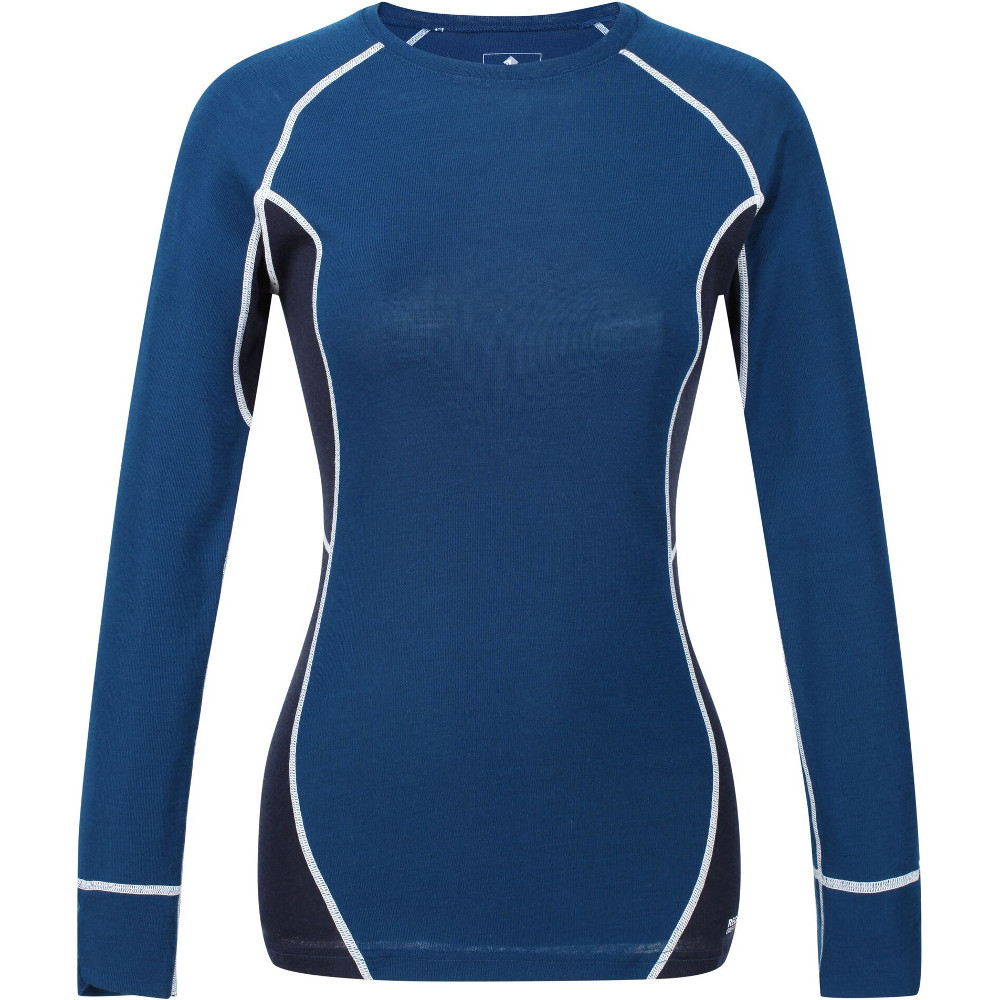 Regatta Womens/ladies Beru Merino Wool Long Sleeve Baselayer T Shirt 16 - Bust 40 (102cm)