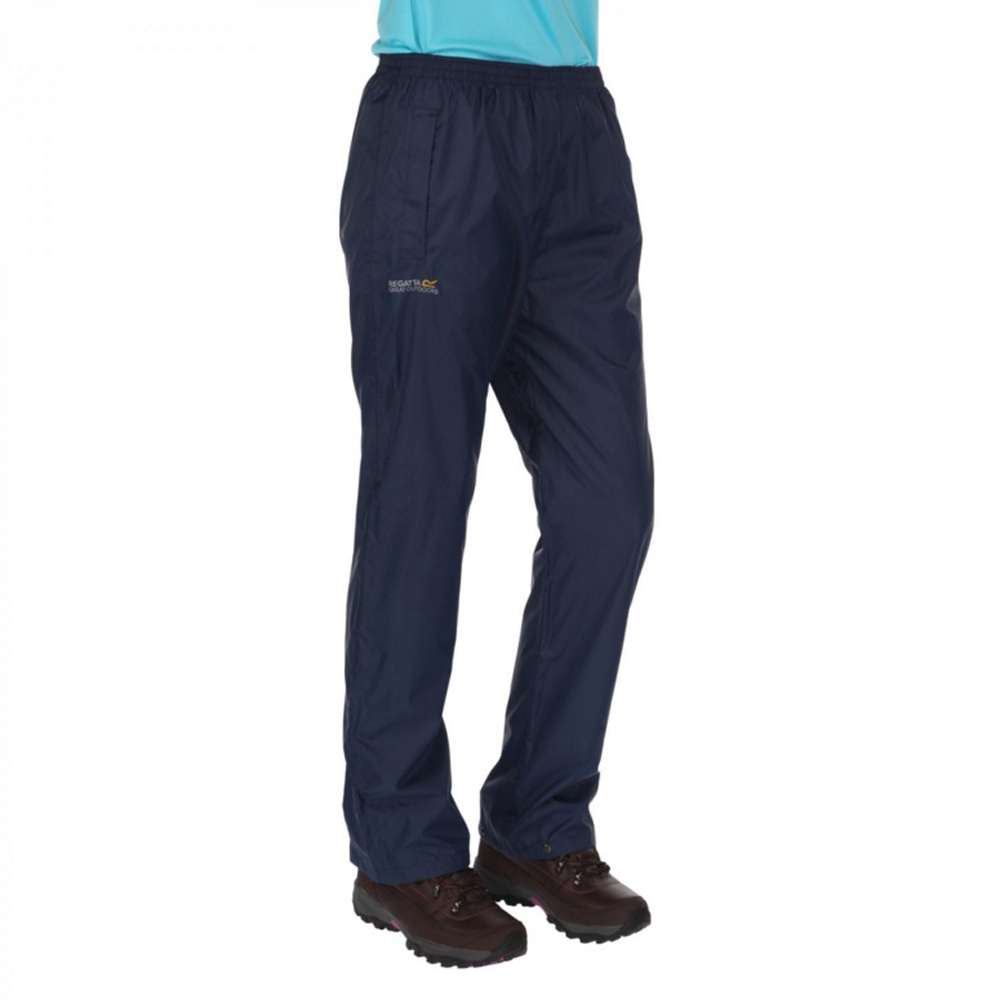 Product image of Regatta Womens/Ladies Pack It Lightweight Waterproof Overtrousers L - Waist 34-36' (86-92cm)
