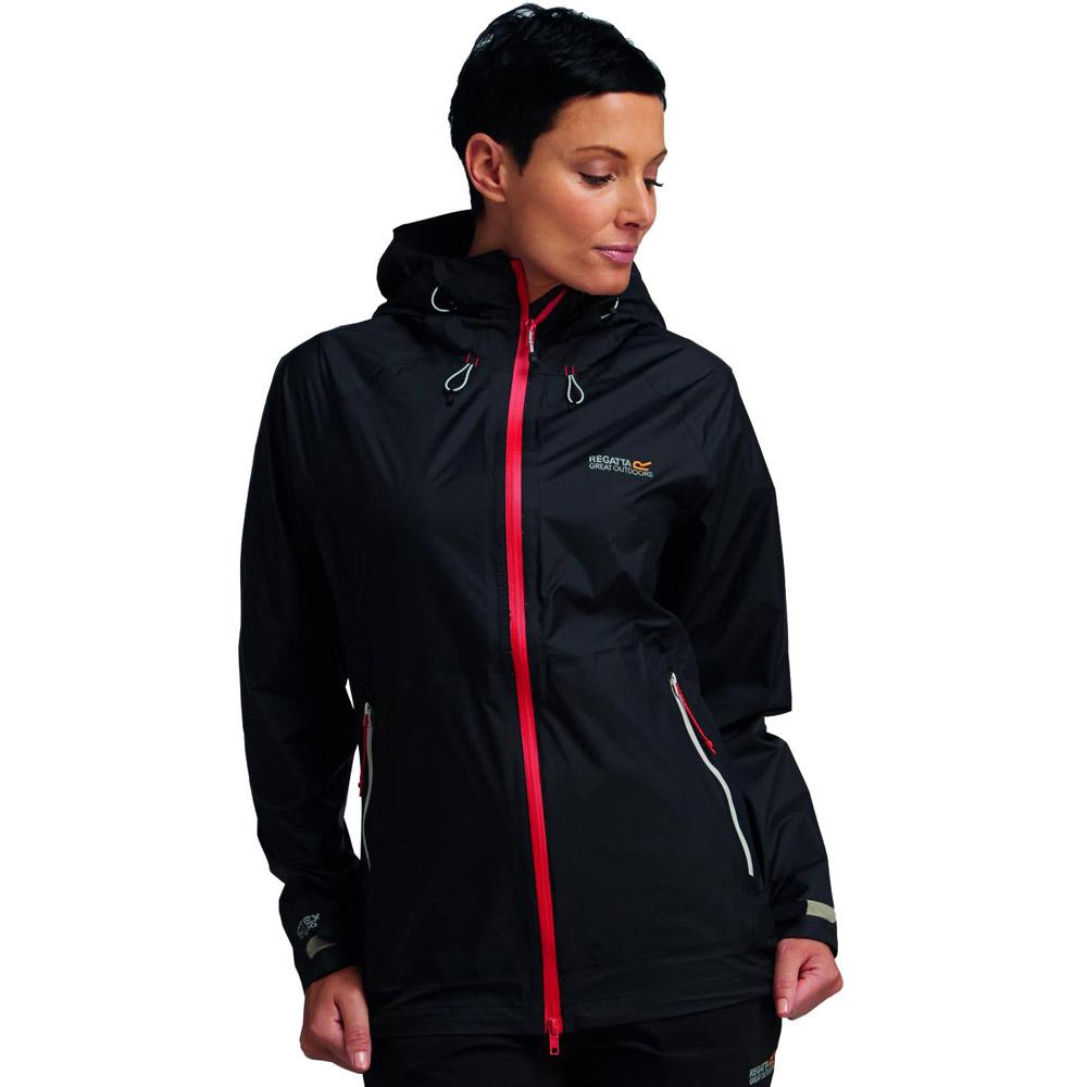 Regatta Ladies Vaporspeed Waterproof Breathable Hooded Jacket Black