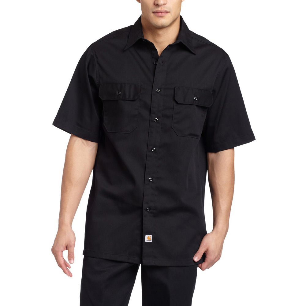 carhartt mens twill short sleeve button up work shirt