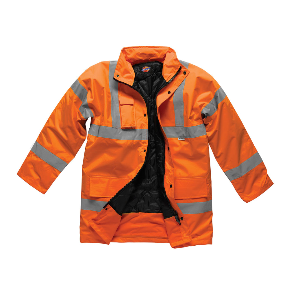 Dickies Mens Workwear Motorway High Visibility Safety Jacket SA22045