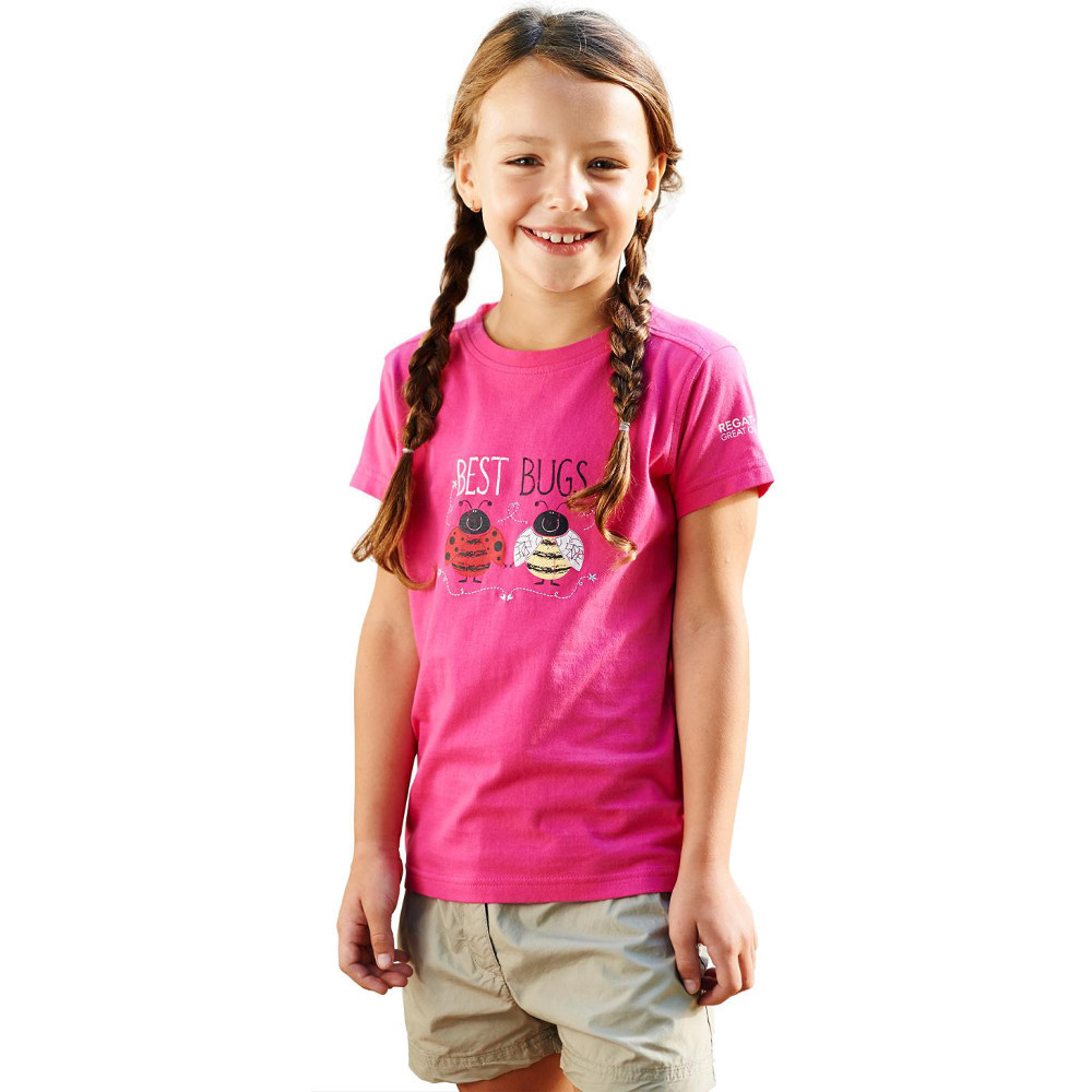 Product image of Regatta Girls Chute Casual Soft Cotton Printed Graphic T Shirt 3 years - Chest 55-57cm